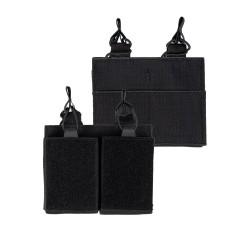 Porte Chargeur Double Avec Scratch Mil Tec - Porte Chargeur Quaerius