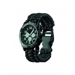 Montre avec Bracelet Paracorde Noir - Montre Paracorde Multi-fonction Quaerius