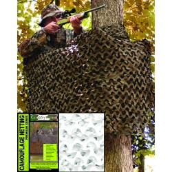 Filet de Camouflage Basic Militaire 3 X 6 m Mil Tec - Filet Quaerius