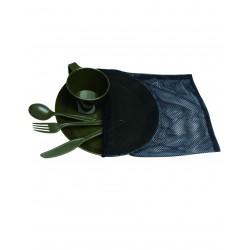 Set Vaisselle Camping Vert VA - Kit Vaisselle de Camping Pratique Quaerius