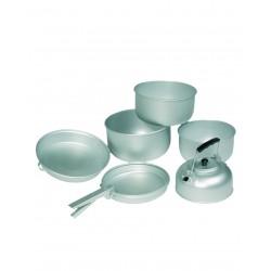 Set de Cuisine Aluminium 7 pièces Mil Tec - Set cuisine vaisselle Quaerius