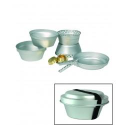 Set de Cuisine Aluminium 5 Pièces - Set Cuisine avec Poêle Réchaud Quaerius