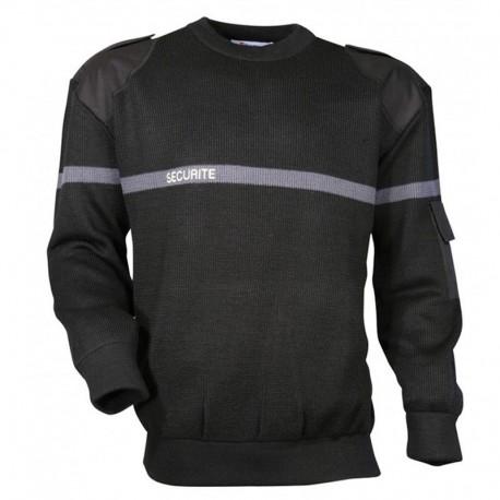 Pull Sécurité Noir Cityguard - Vêtement Sécurité Privé Cityguard Quaerius