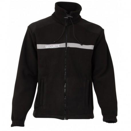 Blouson Polaire Sécurité Noir Cityguard - Vêtements Agent Sécurité Cityguard Quaerius