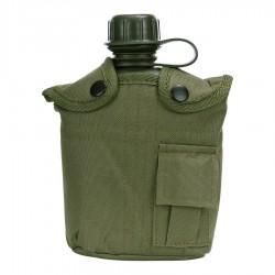 Gourde Plastique avec Housse Fosco Industries - Equipements militaire outdoor Quaerius
