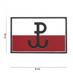 Patch 3D PVC Drapeau Pologne Résistance 101 Incorporated - Patches Quaerius
