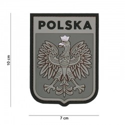 Patch 3D PVC Shield Pologne Gris