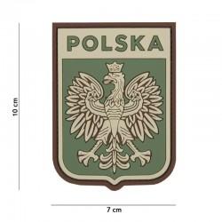 Patch 3D PVC Shield Pologne Vert 101 Incorporated - Patches Quaerius