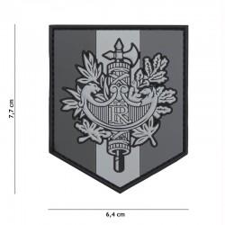Patch 3D PVC Shield France Gris