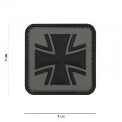 Patch 3D PVC Croix de Fer Allemagne Gris