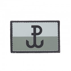 Patch 3D PVC Drapeau Pologne Résistance Gris 101 Incorporated - Patches Quaerius