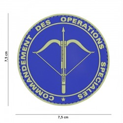 Patch 3D PVC Commandement des Opérations Spéciales Bleu 101 Incorporated - Patches Quaerius