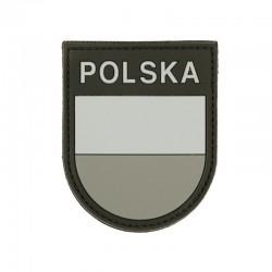 Patch 3D PVC Drapeau Pologne Gris 101 Incorporated - Patches Quaerius