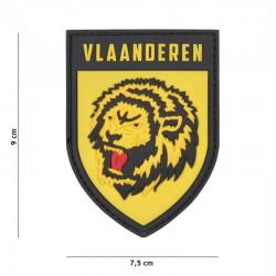 Patch 3D PVC Lion Vlaanderen Jaune 101 Incorporated - Patches Quaerius