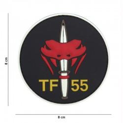 Patch 3D PVC Task Force 55 Vipère Noir 101 Incorporated - Patches Quaerius