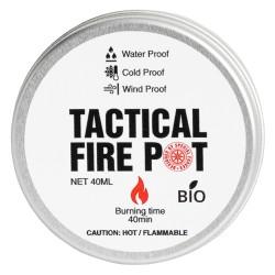 Gel et Réchaud Fire Pot Tactical Foodpack - Combustible Quaerius