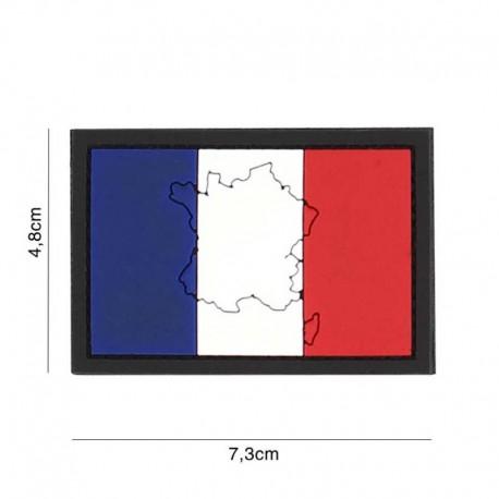 Patch 3D PVC Drapeau France Pays 101 Incorporated - Patches Quaerius
