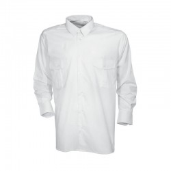 Chemise pilote blanche homme