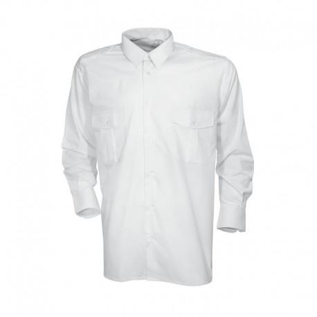 Chemise Pilote Blanche Homme Cityguard - Vêtements Militaire Securite Quaerius