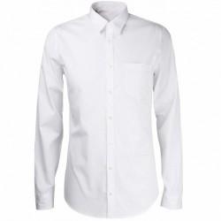 Chemise de ville Cityguard de couleur blanche, équipée de 1 poche de poitrine coeur.
