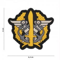 Patch 3D PVC Corps des Marines Logo Jaune 101 Incorporated - Patches Quaerius