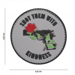 Patch 3D PVC Shot Them With Kindness Gris 101 Incorporated - Patches Quaerius