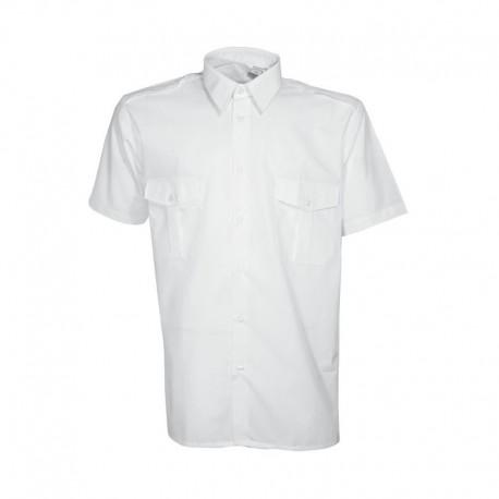 Chemisette Pilote Blanche Homme Cityguard - Vêtement Militaire Sécurité Privée Quaerius