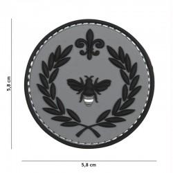 Patch 3D PVC Napoleon Abeille Gris 101 Incorporated - Patches Quaerius