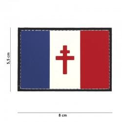 Patch 3D PVC Drapeau France Libre