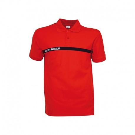 Polo Sécurité Incendie rouge cityguard - Vetement Sécurité Incendie ssiap cityguard Quaerius