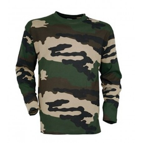 T-shirt Camouflage CE Manches Longues Cityguard 1538 - Equipement militaire t-shirt camouflage quaerius