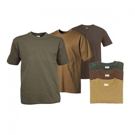 Lot de 3 T-shirts Uni : 1 Beige, 1 Kaki & 1 Marron - Equipement militaire t-shirt Quaerius