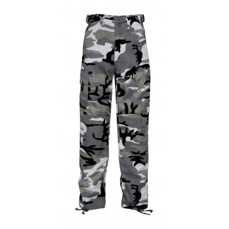 Pantalon BDU Enfant Camouflage Urbain Gris Cityguard 2904 - Equipement militaire pantalon BDU quaerius