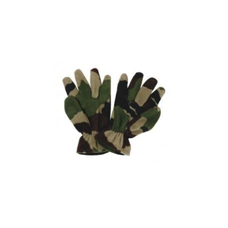 Gants Polaire Camouflage CE Cityguard 2812 - Equipement militaire gants polaire quaerius