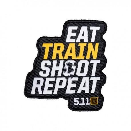 Morale Patch Repeater Eat Train Shoot Repeat 511 - Morale patch 5.11 - Equipement militaire securite surete quaerius