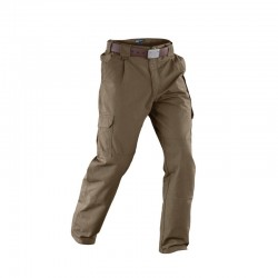 L'authentique pantalon de chez 5.11 Tactical. Pantalon cargo en fabrication 100% coton, de fabrication robuste avec renforts à l'assise et aux genoux, avec taille réglable et sangle arrière. Fermetures glissière YKK® et boutons pression Prym®.