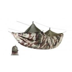 Complétez votre équipement nocturne avec ce hamac avec filet moustiquaire imperméabilisé (tissu polyester ripstop), très léger et résistant. Cette ensemble comprend le hamac, le filet mousquetaire, les cordes et le sac de transport.