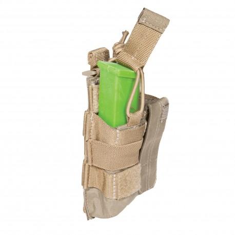 Porte-chargeur Bungee/Cover Pistolet Double 5.11 Tactical - Equipements Militaire Poche 5.11 Quaerius