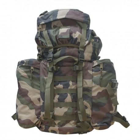 Sac à Dos Intervention Camouflage CE 100L DCA France - Equipement militaire sac de marche camouflage Quaerius