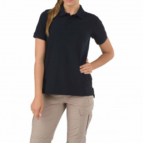 Polo Utility Femme Bleu Marine 5.11 Tactical - Equipements Militaire polo technique tactique Quaerius