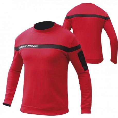 Sweat-Shirt SSIAP Sécurité Incendie Rouge Patrol Equipement - Equipement sécurité incendie sweat shirt ssiap quaerius
