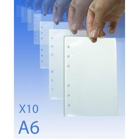10 FEUILLES PLASTIFIEES POUR CLASSEUR A6 DCA - Equipement Forces de l'ordre Papeterie Quaerius