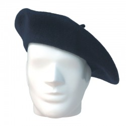 Béret Alpin Bleu Marine 100% Laine - Equipement militaire Habillement Quaerius