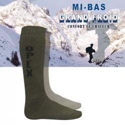 Chaussettes Mi-Bas Grand Froid DCA FRANCE - Equipement militaire chaussettes militaire armée de terre Quaerius