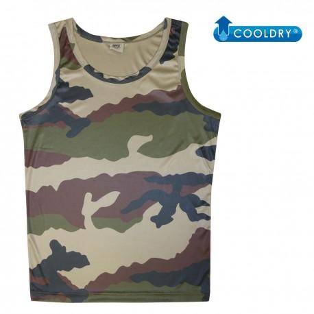 Débardeur Cooldry Camouflage CE DCA FRANCE - Vêtement militaire armée de terre débardeur tactique Quaerius