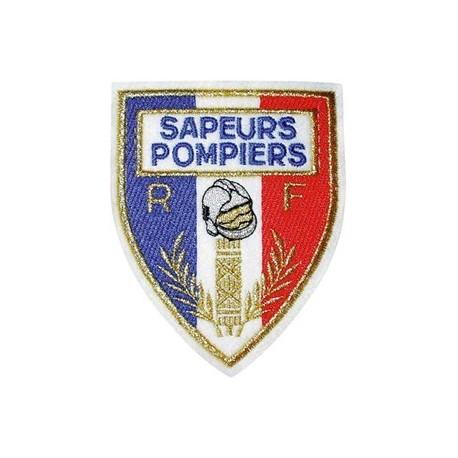 ECUSSON SAPEURS POMPIERS DCA FRANCE - Equipement Sapeurs Pompiers Ecussons Quaerius
