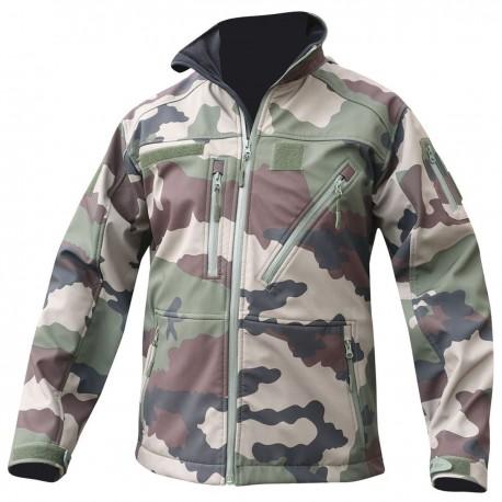Blouson Softshell 3 Couches CAMO CE Opex Equipement - Equipement militaire softshell Quaerius