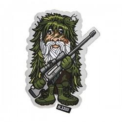 Moral Patch Sniper Gnome 5.11 Tactical - Moral patch humoristique militaire Quaerius