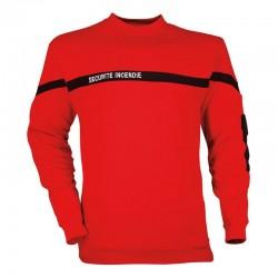 Sweat-shirt Sécurité Incendie rouge Cityguard - Equipements ssiap cityguard Quaerius