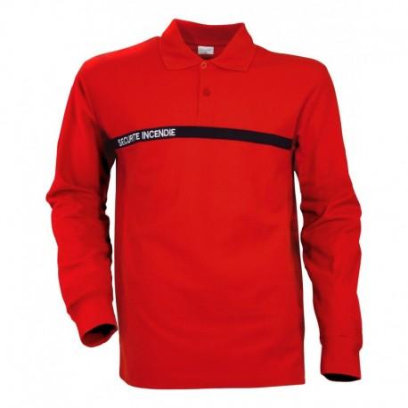 Polo Sécurité Incendie rouge manche longues Cityugard - Vêtements ssiap cityguard Quaerius